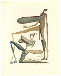 Prodigality - Original Woodcut by Salvador Dalì - 1963
