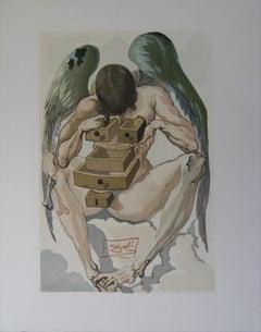 Purgatory 1 - The Fallen Angel - Woodcut - 1963