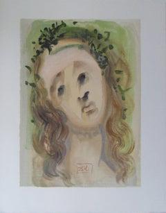 Purgatory 10 - The Face of Virgil - woodcut - 1963