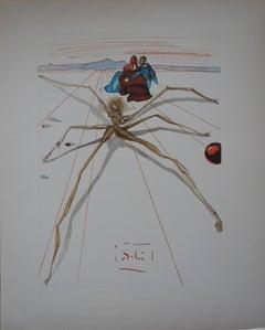 Purgatory 17 - Leaving the Ledge of Anger - Color woodcut - 1963