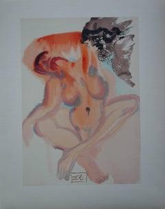Purgatory 3 - The Lazy - Color woodcut - 1963