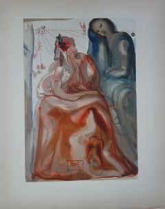 Purgatory 31 - Dante's Confession - Color woodcut - 1963