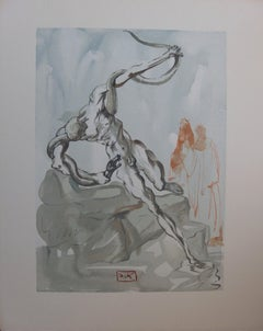 Purgatory 33 - Dante purified - woodcut - 1963