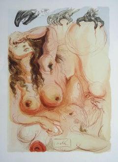 Purgatory 9. Original Color Woodcut on B.F.K. Rives Paper, 1980, 33x25 cm
