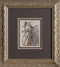 Purgatory Canto 3 from Dante's Divine Comedy, Woodcut by Salvador Dali