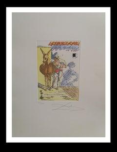 """""""Quand c'est passe cette histoi""""  Original engraving painting-1959"""