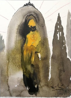 "Quis ascendet in montem Domini? - Original Lithograph From ""Biblia Sacra"" - 1964"
