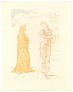 Reassurance - Original Woodcut Print by Salvador Dalì - 1963