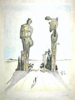 Réminiscence Archéologique de l'Angélus de Millet - Original Etching - 1983