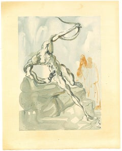 Robbers - Original Woodcut Print by Salvador Dalì - 1963
