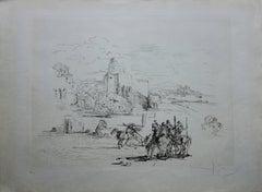 Rome and Cadaques - Original etching - 1973