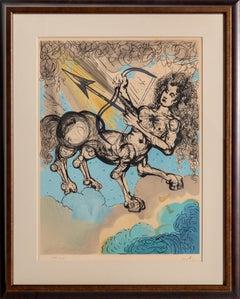 Sagittarius, Zodiac Lithograph by Salvador Dalí 1967