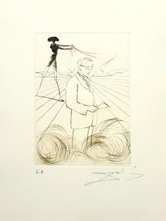 Salvador Dali - Alexander Fleming - Original Handsigned Engraving