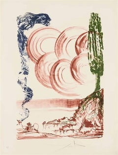 "Salvador Dalí ""Atomo Moscas"" (Field 73-5), 1973 hand signed artist proof"