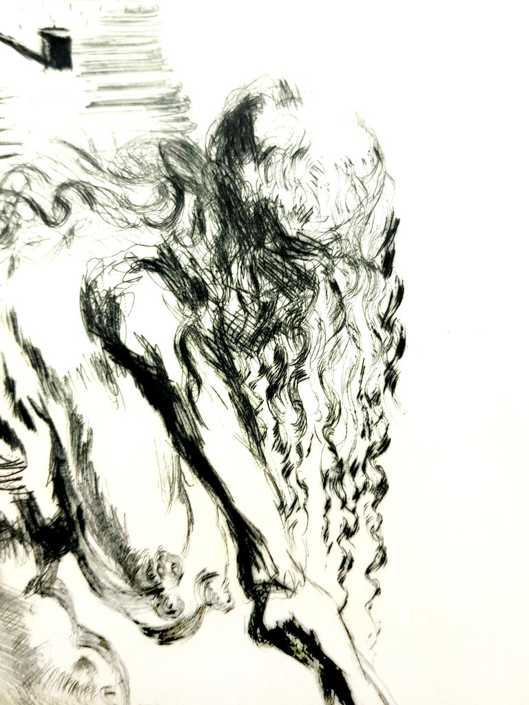 Salvador Dali - Baubo (Woman Riding a Sow), from Faust - Original Etching For Sale 1