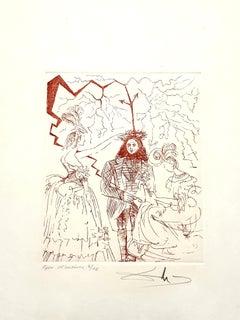 Salvador Dali - Benjamin Franklin - Original Handsigned Etching