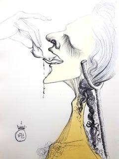 Salvador Dali - Bird on Tongue - Original Etching