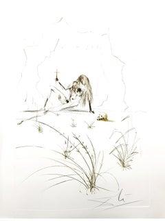 Salvador Dali - Brother Ogrin, The Hermit - Original Etching