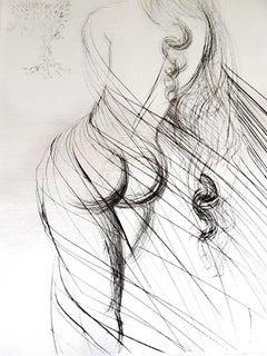 Salvador Dali - Cassandre - Original Etching on Silk