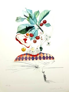 Salvador Dali - Cherries - Original Hand-Signed Lithograph