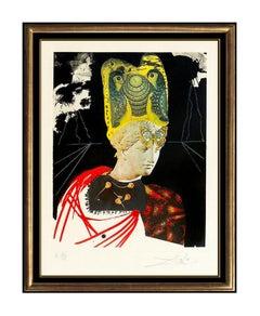 Salvador Dali Color Etching Hand Signed Crazy Minerv Memories Of Surrealism Art