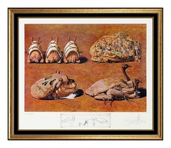 Salvador Dali Color Lithograph Hand Signed Caprices Diners Gala Surrealism Art