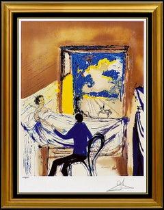 Salvador Dali Color Lithograph Hand Signed Doctor Modern Surreal Illustration