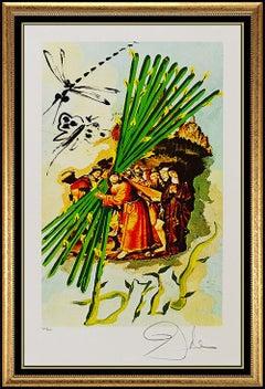 Salvador Dali Color Lithograph Hand Signed Original Surreal Authentic Artwork
