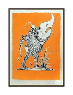 Salvador Dali Color Lithograph Original HAND SIGNED Songes Drolatiques Artwork