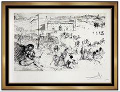 Salvador Dali Coronation of Juan Carlos Hand Signed Etching Modern Surreal Art