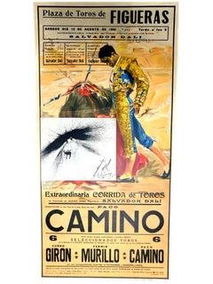 Salvador Dali - Corrida - Vintage Poster with Etching
