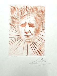 Salvador Dali - David Ben Gurion - Original Handsigned Etching
