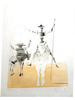 Salvador Dali - Don Quixote and Sancho - Original Hand Signed Etching