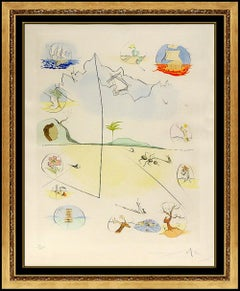 Salvador Dali Drypoint Color Etching Hand Signed Frontispiece Israel Tribes Art