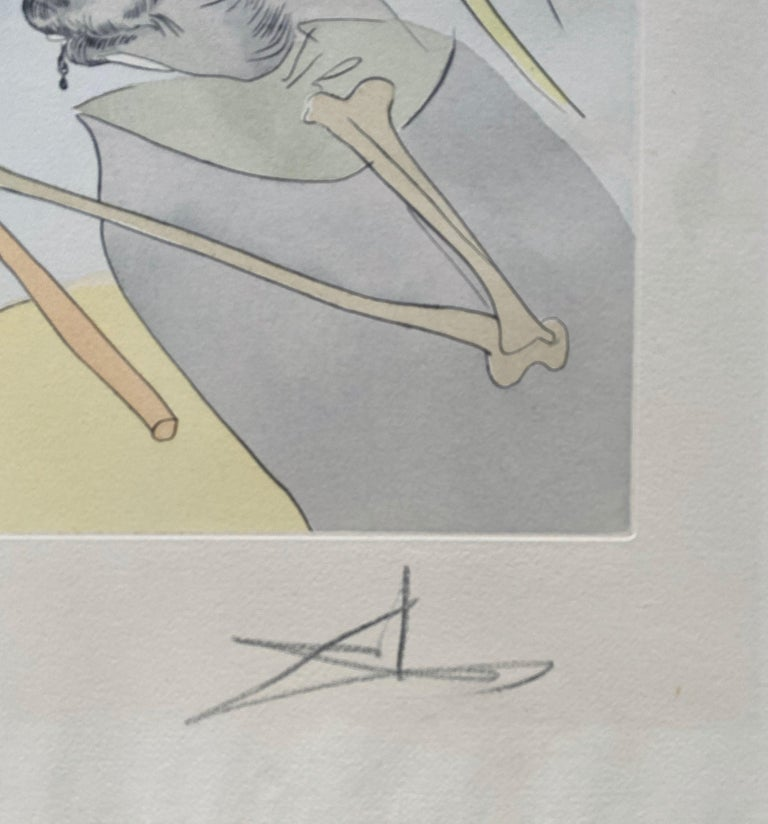 Salvador Dali Elephant Signed Etching Engraving Surreal Color Lithograph Pochoir For Sale 5
