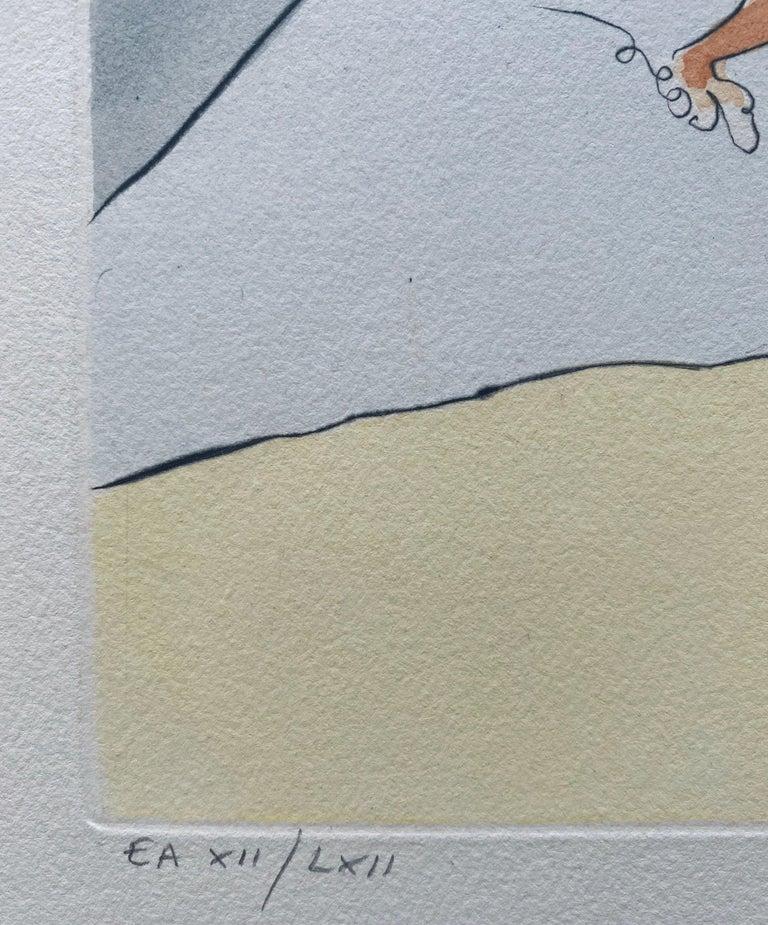 Salvador Dali Elephant Signed Etching Engraving Surreal Color Lithograph Pochoir For Sale 2