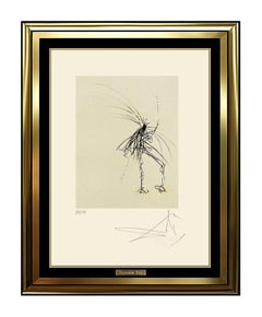 Salvador Dali Etching Authentic Original Faust Silhouette Artwork HAND SIGNED