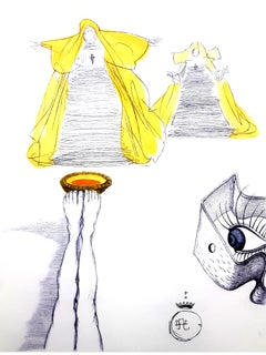 Salvador Dali - Eye Watches - Original Etching