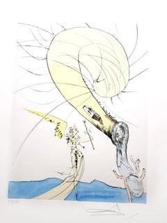 Salvador Dali - Freud with a Snail's Head - Original Signed Engraving
