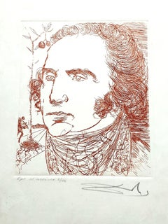 Salvador Dali - George Washington - Original Handsigned Etching