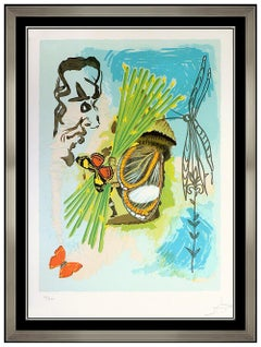 Salvador Dali Hand Signed Color Lithograph The Overseer Ivanhoe Butterfly Art
