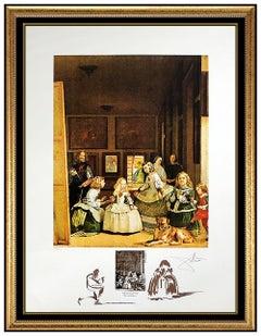 Salvador Dali Hand Signed Color Lithograph Velasquez Les Menines Authentic Art