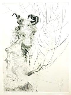 Salvador Dali - Head of Veal - Original Etching