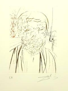 Salvador Dali - Hippocrates - Original Handsigned Engraving