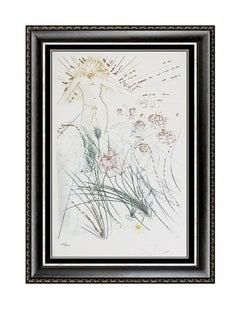 Salvador Dali I Am Beloved Color Etching Hand Signed Songs of Solomon Surrealism