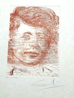 Salvador Dali - John Kennedy - Original Handsigned Etching