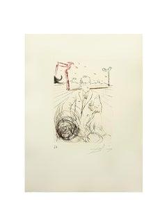 Salvador Dali - Jonas Salk - Original Handsigned Engraving