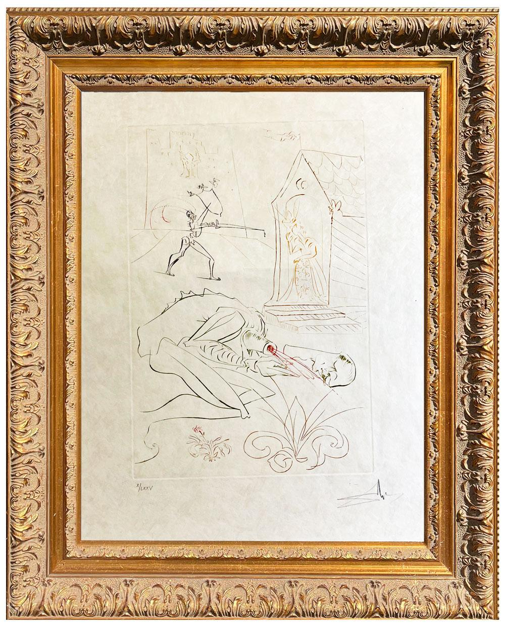 Salvador Dalí * La Quete du Grall Fight Before la Dame de Malehout