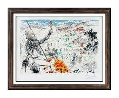Salvador Dali L'Age D'Or Color Lithograph Hand Signed Surreal Framed Artwork SBO