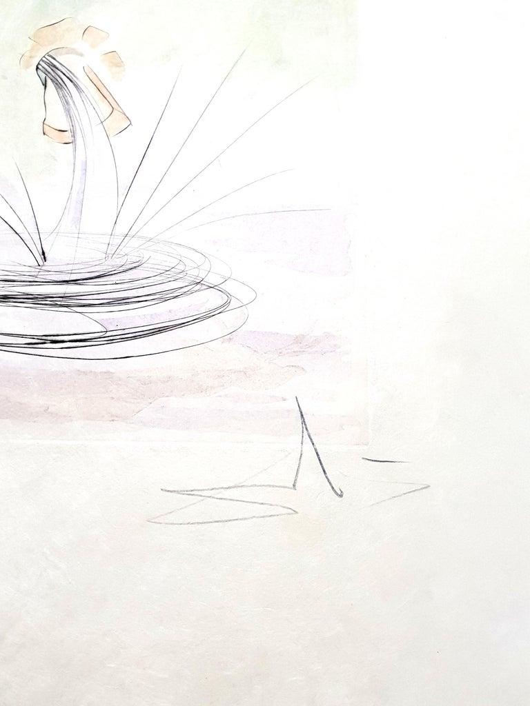 Salvador Dali - Le Cerf from Le Bestiaire de la Fontaine - Signed Engraving - Print by Salvador Dalí
